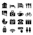 hostel hotel icon set vector image vector image