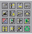 icons measuring device for oil pipeline on grey vector image