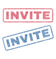 invite textile stamps vector image vector image