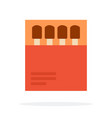 matches in paper packaging flat isolated vector image vector image
