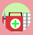 medication first medical aid icon vector image