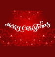 merry christmas calligraphy text with vector image vector image