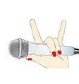 microphone rock vector image vector image