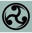 Mitsu Tomoe - Japanese Triad symbol vector image vector image