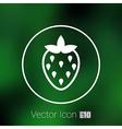 monochrome of strawberries logo food vector image