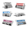 newspaper daily news isolated icons vector image