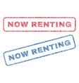 now renting textile stamps vector image vector image