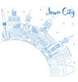 outline iowa city skyline with blue buildings and vector image vector image