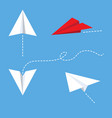 paper plane icon design vector image vector image