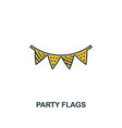 party flags icon creative 2 colors design vector image vector image