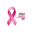 pink cancer ribbon international cancer awareness vector image vector image