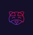 raccoon logo line icon vector image vector image