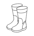 Rubber boots icon in outline style isolated on vector image vector image