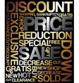 sale discount poster vector image vector image