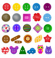 sewing button kids fashion design clothing vector image vector image