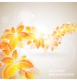 shiny autumn background vector image vector image
