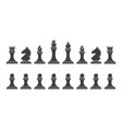 silhouettes of chess pieces vector image