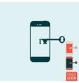 Smartphone secure icon vector image vector image