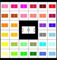 soccer field felt-pen 33 colorful icons vector image vector image