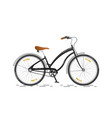 sports bicycle flat bike isolated on white vector image vector image