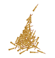 Stack of Rifle Bullets on White Background vector image