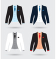 suits set vector image vector image