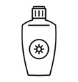 uva sunscreen bottle icon outline style vector image vector image