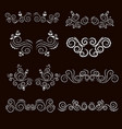 vintage frames and scroll elements3 vector image vector image