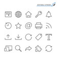 web line icons editable stroke vector image