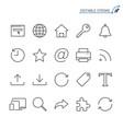 web line icons editable stroke vector image vector image