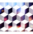 White cubes vector image