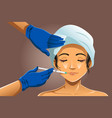 woman receiving beauty treatment vector image