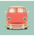 Minibus cartoon colorful vector image