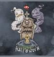 happy halloween cartoon evil vector image