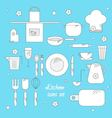 Cool kitchen and cooking related icons set vector image