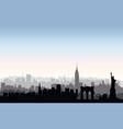 new york city buildings silhouette american urban vector image