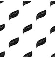eco leaf icon in black style isolated on white vector image