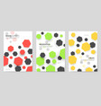 abstract geometric pattern cards set shape colors vector image vector image
