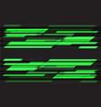 abstract green neon grey geometric black vector image