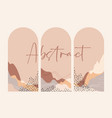 abstract landscape arches sun pastel colors vector image vector image