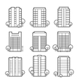 apartment building icons vector image vector image