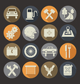 Auto service icons set Colors plate vector image