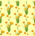 beautiful flower tulip seamless pattern background vector image vector image