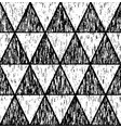black grunge pattern of triangles vector image vector image