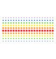 blot shape halftone spectral array vector image