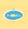blue sticker smoothie banana logo set vector image