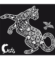 cat on black33m vector image vector image