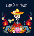 cinco de mayo greeting card invitation with vector image