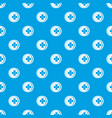 coin with clover sign pattern seamless blue vector image vector image