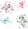 color splatter paint abstract on white background vector image vector image